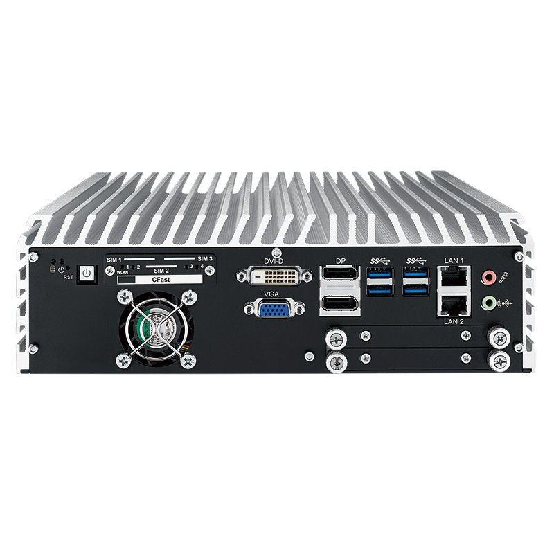 ECS-9600 GTX1050 Fanless Computer with Skylake CPU and