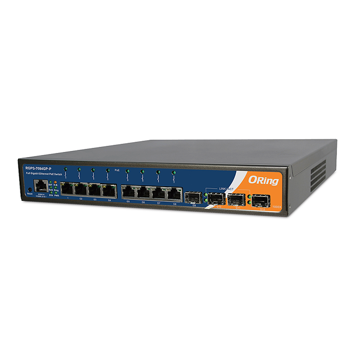 RGPSGPP Port Rack Mount PoE Ethernet Switch Rugged - Switch 12 ports